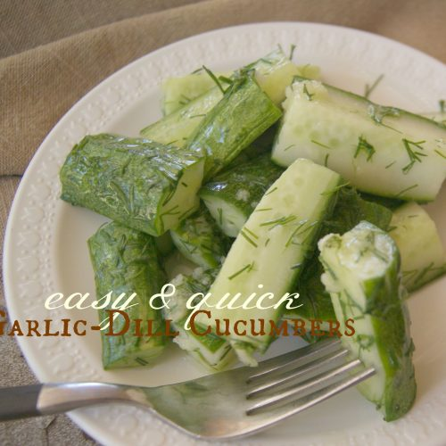 Garlic Dill Cucumbers