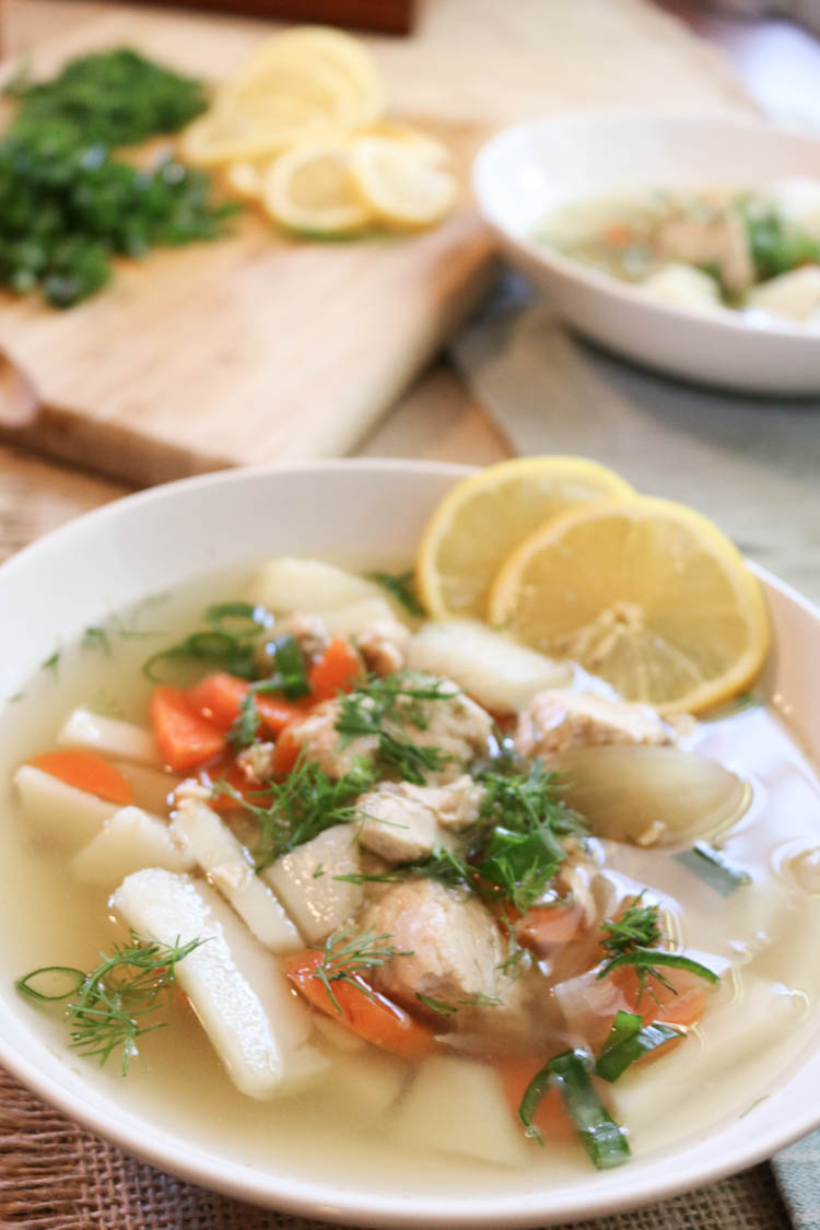 Easy Nourishing Fish Soup - Full of flavor and nutrition, made with ease in 30 minutes. #soup #healthy #whole30