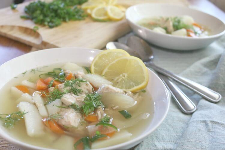Easy nourishing fish soup prepare nourish for Fish broth soup