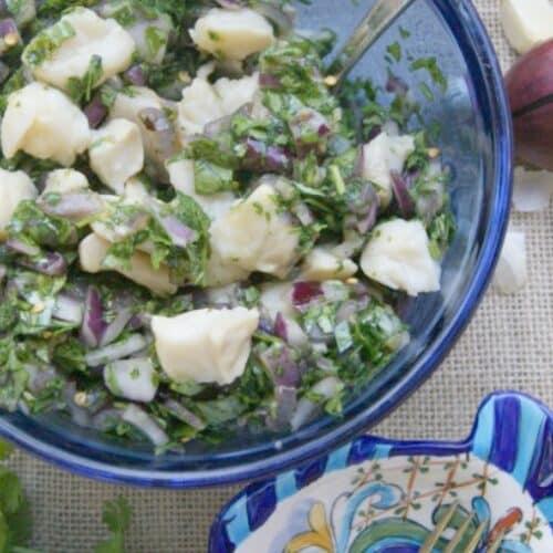 Cilantro and Chili Ceviche Salad Recipe
