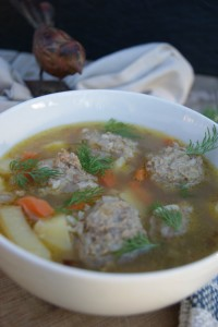 Easy and delicious Meatball Soup. Meatballs can be made in advance to cut time on those #busy nights. Instant meal, real food style.
