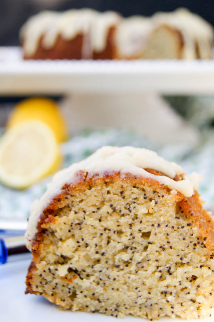 Lemon Poppyseed Bundt Cake | Gluten Free - This delicious grain free desert has the perfect blend of tartness and the delicate sweetness from honey.