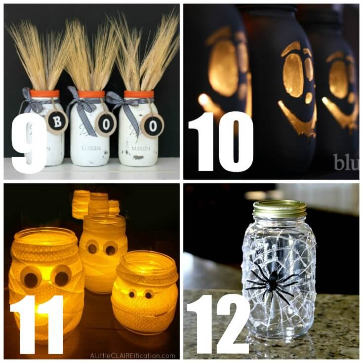 24 Mason Jar Crafts For Fall - Use mason jars to make home decor, crafts and gifts!