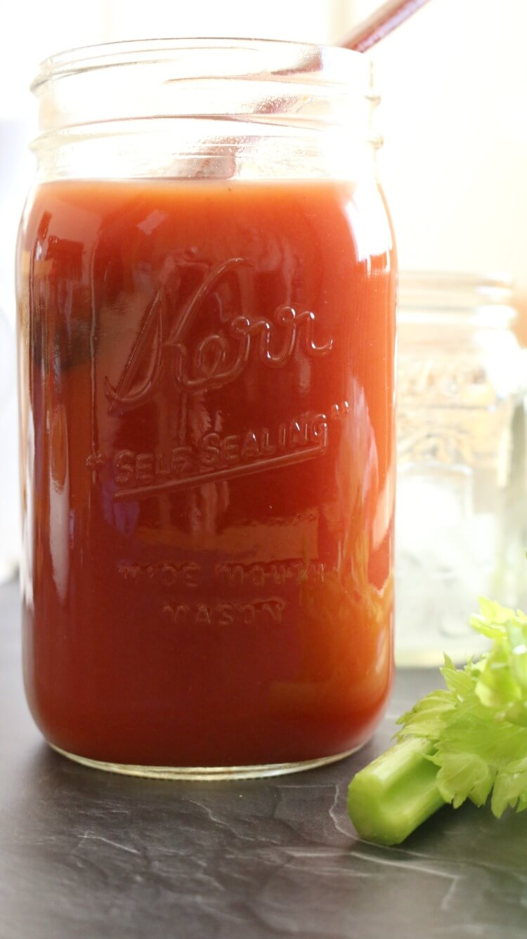 How to Make Tomato Juice:: Did you know you can easily make tomato juice out of tomato paste? Add some healthy unrefined sea salt and friendly fats for better absorption and you have a health drink.