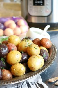 Butter and Dill Potato Medley - 5 minute Instant Pot dish - simple to make and delicious to eat!