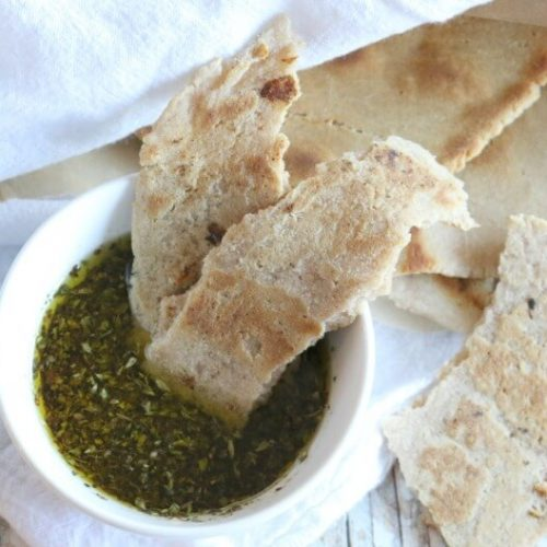 (Ad) Gluten Free Flatbread with Herb & Garlic Dipping Oil - grain free | healthy | real food
