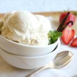 3 Ingredient Vanilla Bean Ice Cream - This Paleo treat is rich in healthy dairy free fats and loaded with vanilla bean specks. Made with coconut milk.