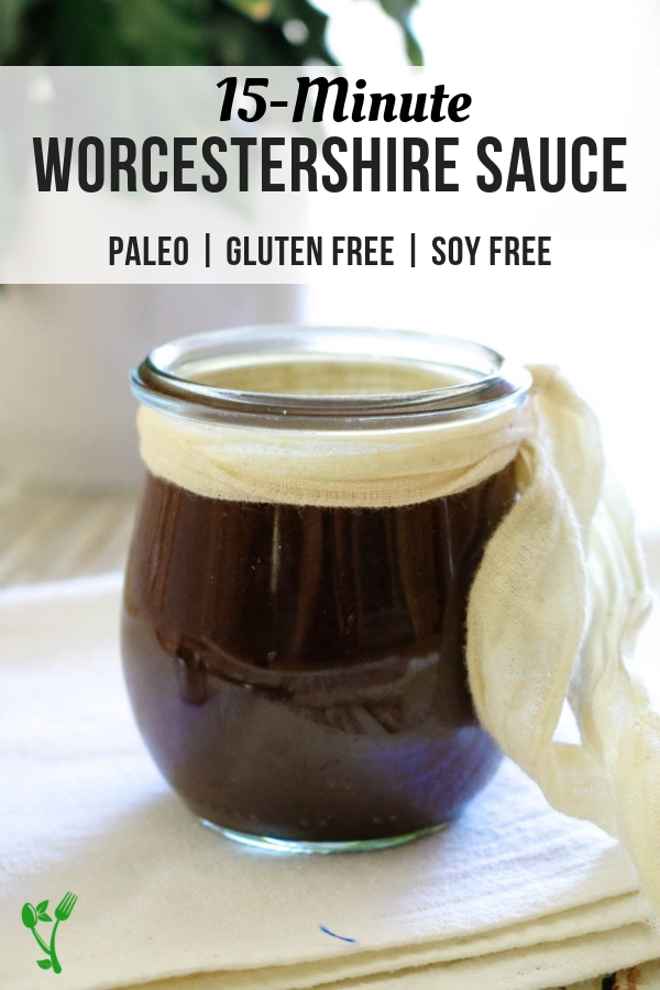 Worcestershire Sauce Recipe - This incredibly flavorful condiment is recreated with real food ingredients and is paleo friendly. Use this Paleo Worcestershire Sauce in your favorite recipes or simply drizzle on top of steak for extra flavor. #paleo #soyfree