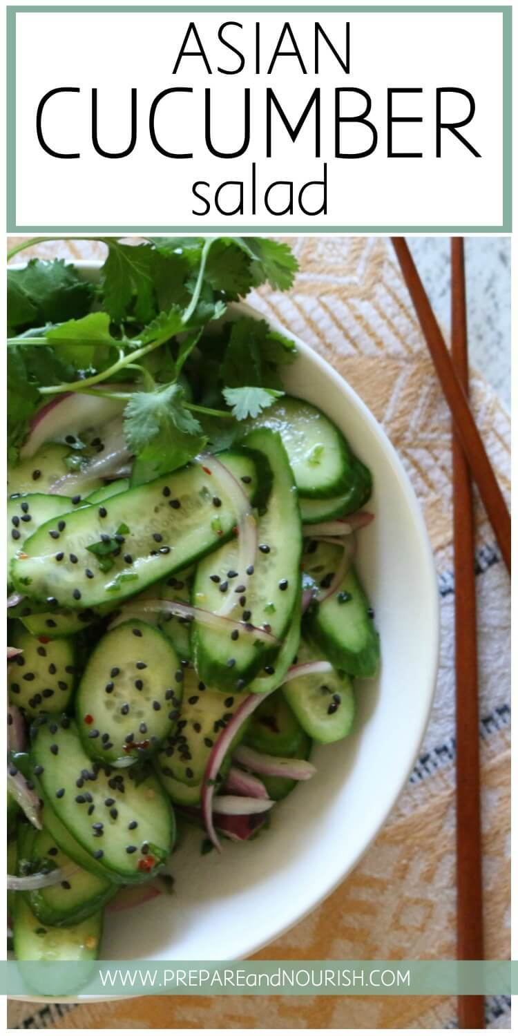 Low Carb Asian Cucumber Salad Paleo Whole30 Keto