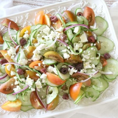 Greek Tomato and Cucumber Salad (Keto, GAPS)