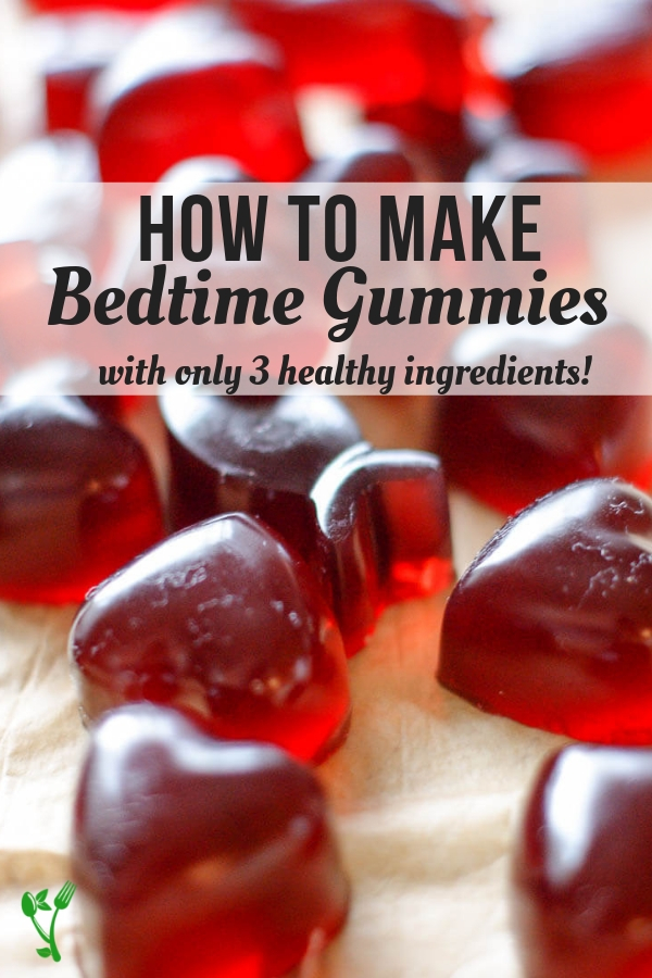 3 Ingredient Bedtime Gummies - With three simple ingredients, these Bedtime Gummies are sweetened with raw honey for extra nutrition and are overall a great Paleo & GAPS treat. #paleo #bedtime #collagen