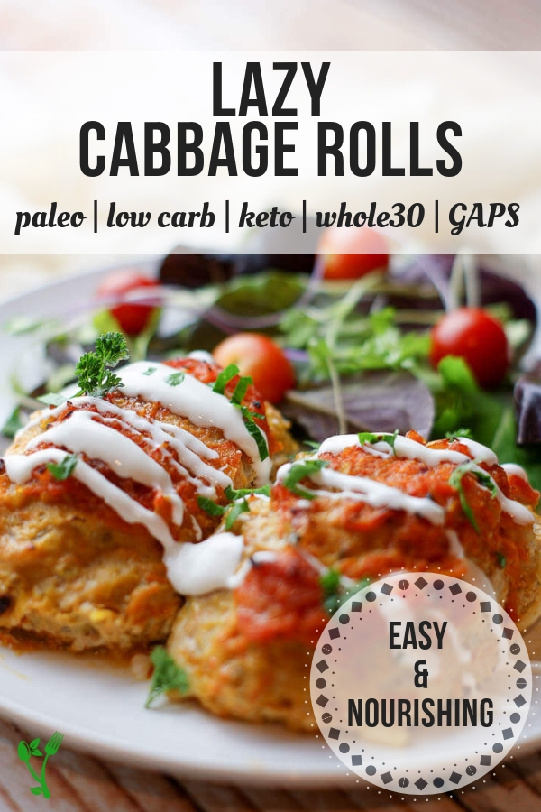 Healthy Lazy Cabbage Rolls - These Lazy Cabbage Rolls are packed with the traditional flavors including onion, carrots, tomato sauce and of course cabbage. Cauliflower rice makes a great sub for regular rice making these low-carb, whole30, and paleo. #keto #paleo