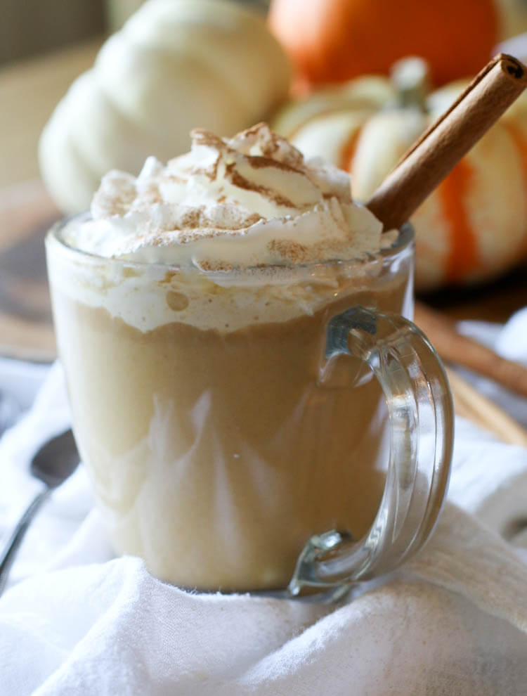 "Easy 2-Minute Keto Pumpkin Spice Latte (Low Carb, Paleo, GAPS) - Rich in flavor and healthy fats, this Easy 2-Minute Keto Pumpkin Spice Latte will become a regular daily treat. This drink can be made with herbal ""coffee"", and coconut cream to keep it paleo.  #falldrinks #lowcarb"