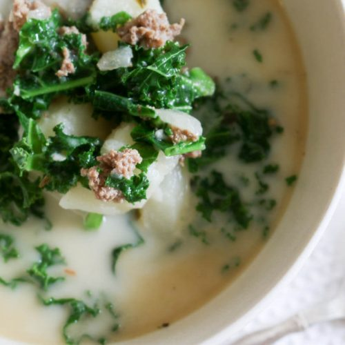 Instant Pot Ground Beef Kale Soup - This Ground Beef and Kale Soup is hearty and loaded with potatoes, ground beef and nutritious kale. The best part is that this soup makes a quick and easy dinner with 4 minutes of cooking time. #instantpot #healthysoup