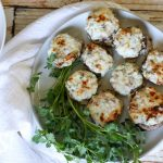 Three Cheese Stuffed Mushrooms (Low Carb, Keto, Primal, GAPS) These Three Cheese Stuffed Mushrooms make a great healthy appetizer. With only 6 ingredients, they are incredibly simple and quick to make. #keto #lowcarb #appetizer