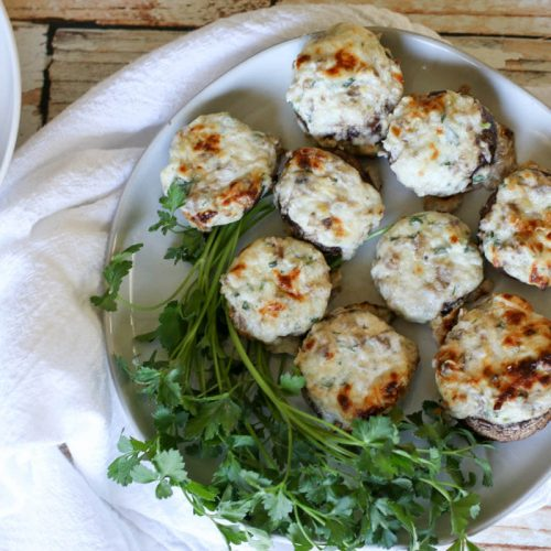 Three Cheese Stuffed Mushrooms (Low Carb, Keto, GAPS, Primal)