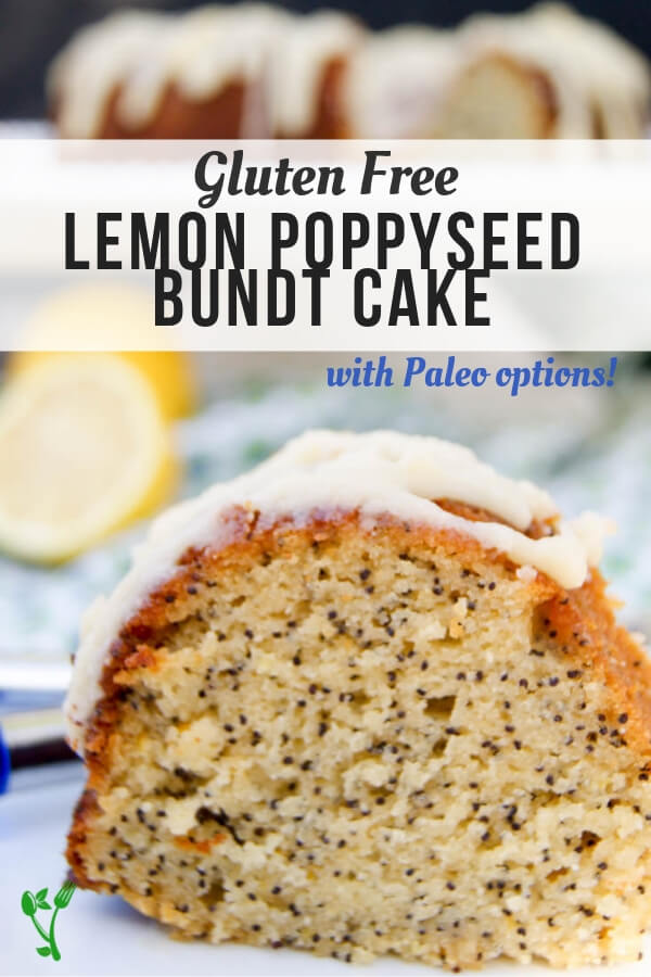 Paleo Lemon Poppyseed Bundt Cake - This delicious grain free Paleo Lemon Poppyseed Bundt Cake has the perfect blend of tartness and the delicate sweetness from honey. The rich lemon glaze is the perfect garnish atop this sweet treat. #glutenfree #healthysweet