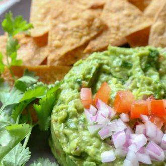 Best Authentic Guacamole - simple recipe but full of authentic flavor.