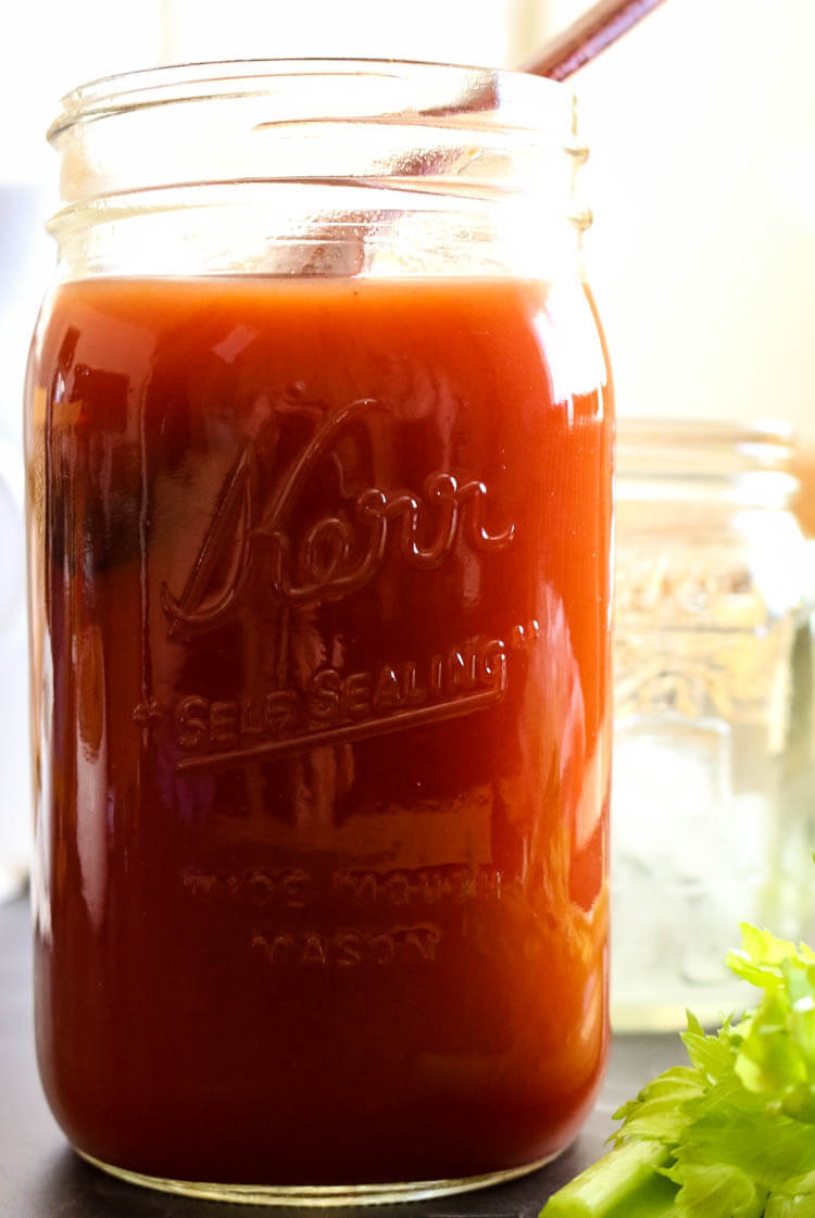 How to Make Homemade Tomato Juice from Tomato Paste -Did you know you can easily make tomato juice out of tomato paste? This easy homemade tomato juice recipe calls for sea salt and healthy fats for better nutrient absorption. It