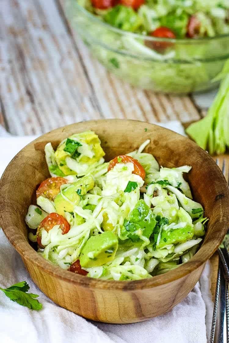 Avocado Cabbage Slaw from Prepare & Nourish