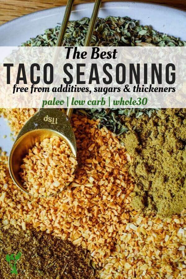 Plate of The Best Taco Seasoning
