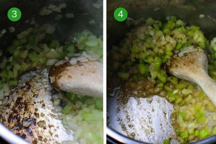 How to deglaze Instant Pot after sauteing vegetables to avoid BURN alert.