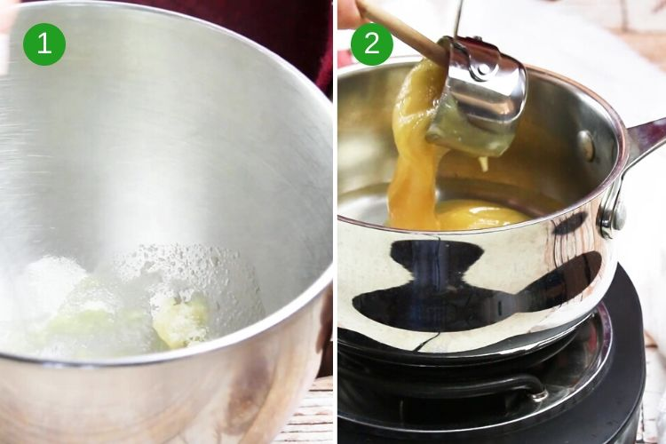 How to make marshmallows - steps one and two.