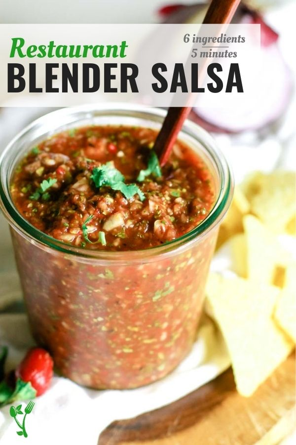 easy homemade salsa in a weck jar with tortilla chips and red jalapeno