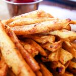 Cajun Sweet Potato fries with ketcup