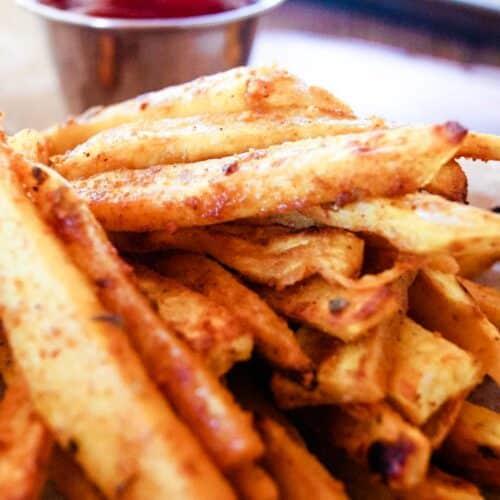 Cajun Sweet Potato fries with ketcup