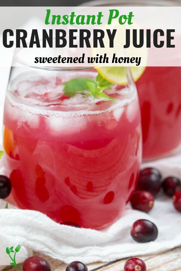 Instant Pot Cranberry juice picture with text