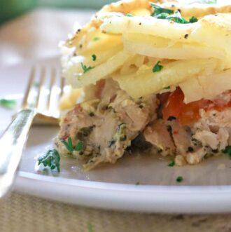 serving size of chicken potato bake