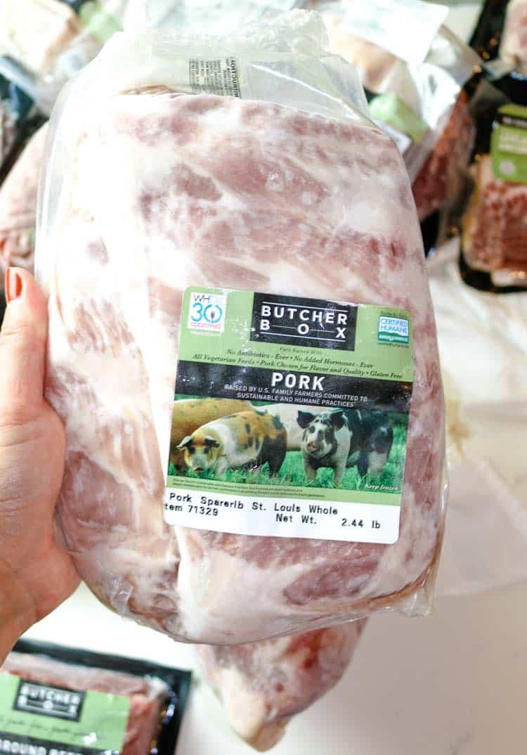 ButcherBox pastured pork ribs