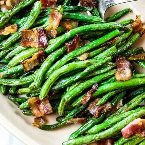 Whole30 green beans with bacon