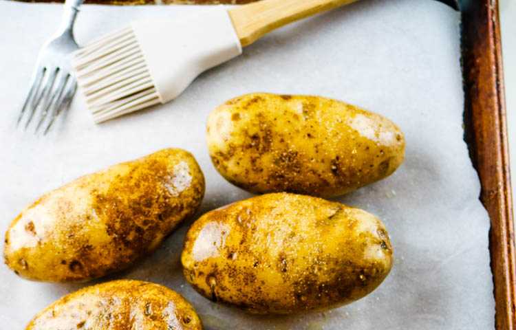 Step 1: baking potatoes
