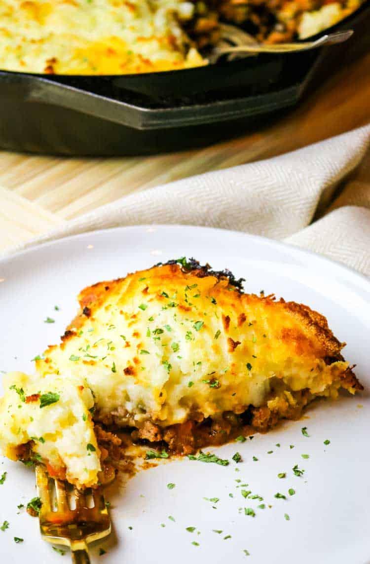 Easy shepherd's pie with healthy ingredients