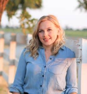 Anya at a farm